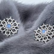 jewellery-photos, ювелирный фотограф, Ювелирная фотосъемка, ожерелье, Яны Расковаловой модель, yanaraskovalova, художественная съемка ювелирных украшений, серьги снежинки, мех