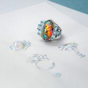 jewellery-photos, ювелирный фотограф, Ювелирная фотосъемка, ожерелье, Яны Расковаловой модель, yanaraskovalova, художественная съемка ювелирных украшений, кольцо опалом