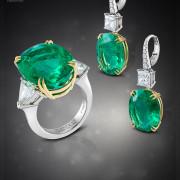 ювелирная съемка, набор ювелирных украшений, украшения с изумрудами , horsjewellery.com, jewellery-photos, ювелирный фотограф,