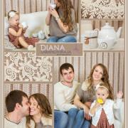 Семейная фотосессия в студии, вязаная стена, детский фотограф, девочка, семья, коллаж