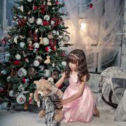 family-photos, Новогодняя фотосессия, дети, девочка, детская съемка