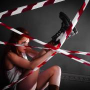 фотосессия, линия разрыва, девушка, рыжая, образ, фотостудия, фотограф Диана Лабановская