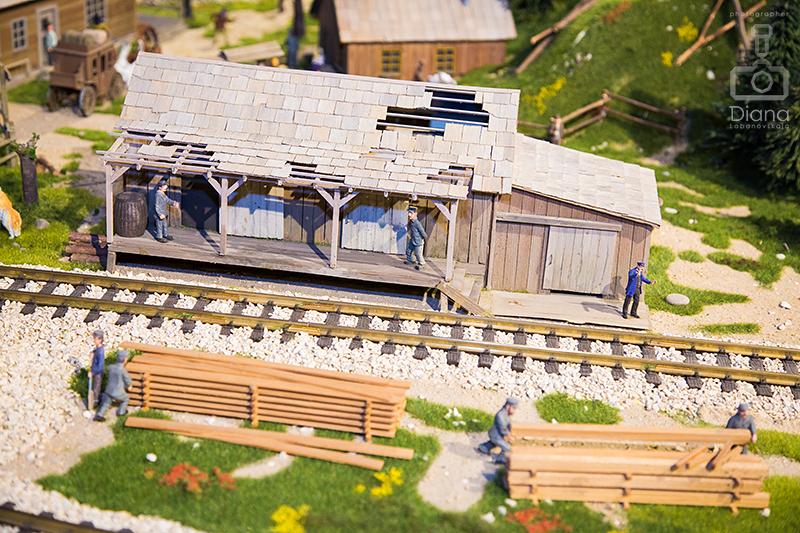 диорама-миниатюра железная дорога