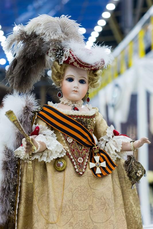 Салон кукол в Москве 2015, http://dollsalon.ru/, international doll salon in Moscow, Еленой Получанкиной, шуршание шёлка, Царские куклы, авторская кукла, Екатерина Великая