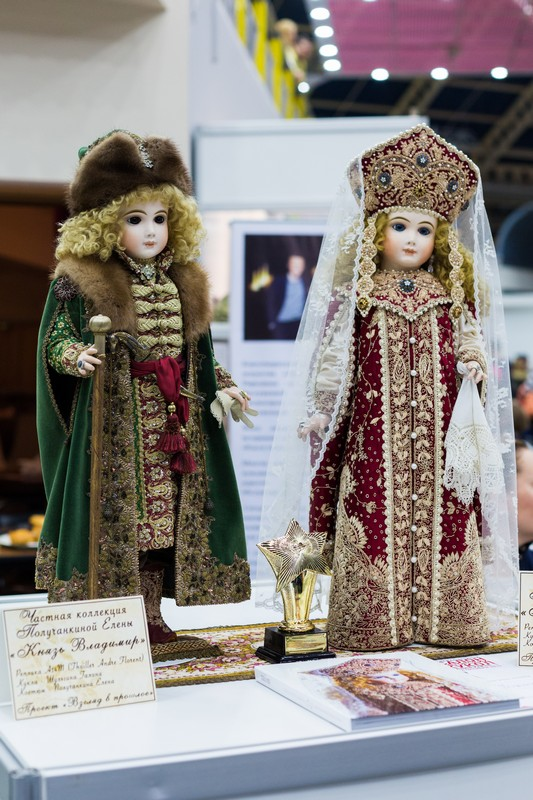 Салон кукол в Москве 2015, http://dollsalon.ru/, international doll salon in Moscow, Еленой Получанкиной, шуршание шёлка, Царские куклы, авторская кукла, князь Владимир, императрица Елизавета Петровна
